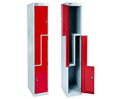 2 Metal Z shape lockers